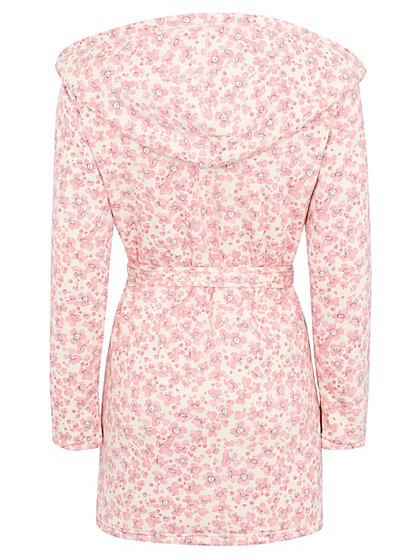 Floral Print Hooded Dressing Gown   Women   George at ASDA