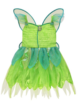 sc 1 st  George - Asda & Disney Fairies Tinkerbell Fancy Dress Costume | Kids | George at ASDA