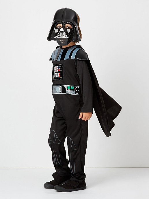 Star Wars Darth Vader Fancy Dress Costume With Sound. Video 907b9623e