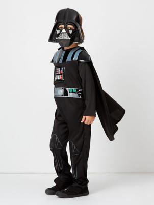 & Star Wars Darth Vader Fancy Dress Costume With Sound | Kids | George