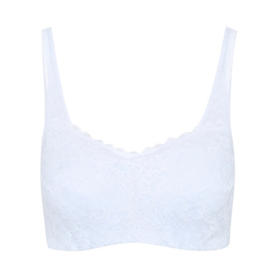 George Post Surgery Lace Bra - White, White