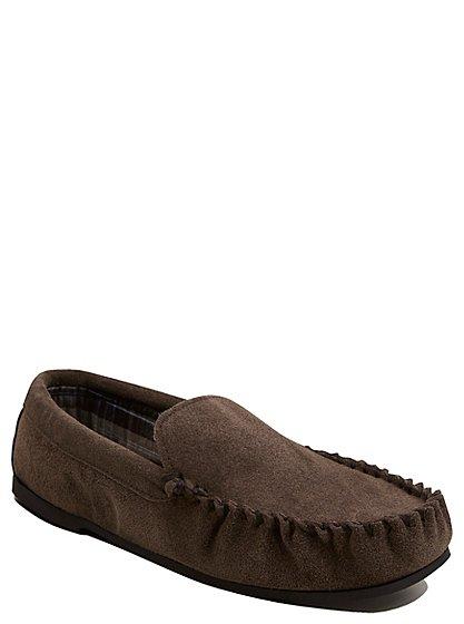suede moccasin slippers men george at asda. Black Bedroom Furniture Sets. Home Design Ideas