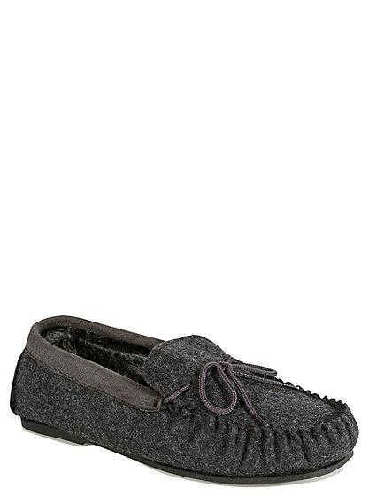 felt moccasin slippers men george at asda. Black Bedroom Furniture Sets. Home Design Ideas