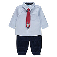 Christmas Rudolph Shirt Bottoms And Tie Set Baby
