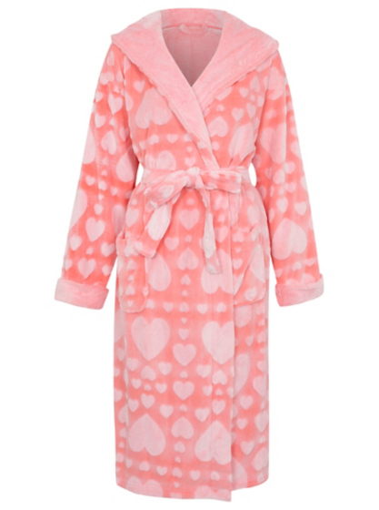 Heart Print Dressing Gown | Women | George at ASDA