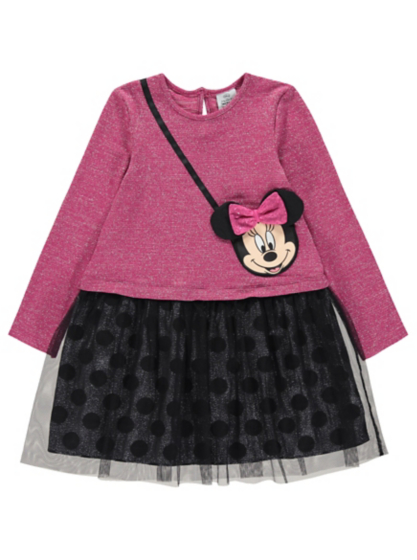Disney Minnie Mouse Glitter Effect Dress | Baby | George at ASDA