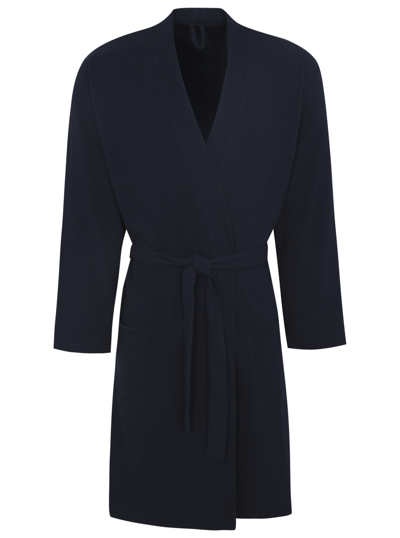 Waffle Dressing Gown Navy Men George