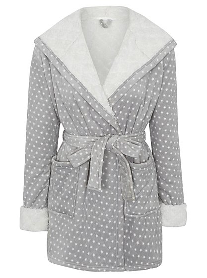 Quilted Star Pattern Short Dressing Gown | Women | George at ASDA