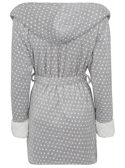 Quilted Star Pattern Short Dressing Gown   Women   George at ASDA