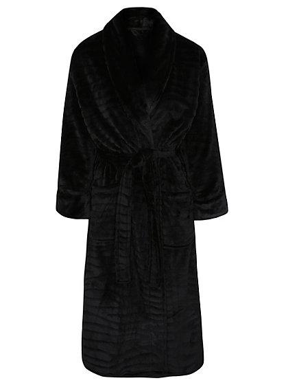 Textured Fleece Dressing Gown   Women   George at ASDA