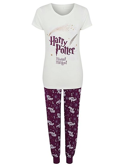 harry potter pyjama set women george at asda. Black Bedroom Furniture Sets. Home Design Ideas