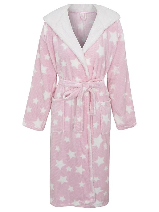 d06287cc1a Star Print Hooded Dressing Gown. Reset