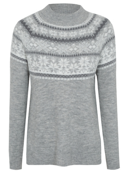 Sequin Fairisle Yoke Jumper | Women | George at ASDA