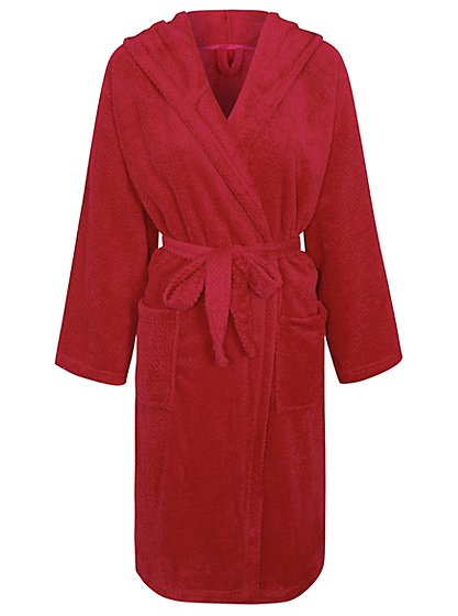 Hooded Honeycomb Dressing Gown | Women | George at ASDA