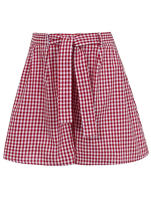 0476f7511 Girls School Gingham Culottes - Red | School | George at ASDA