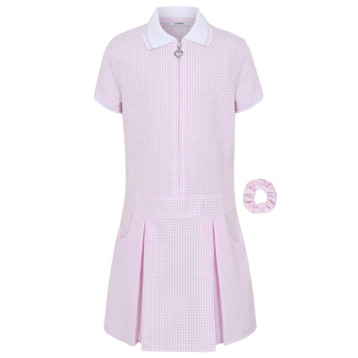 George Pink Gingham Sporty School Dress, Pink.