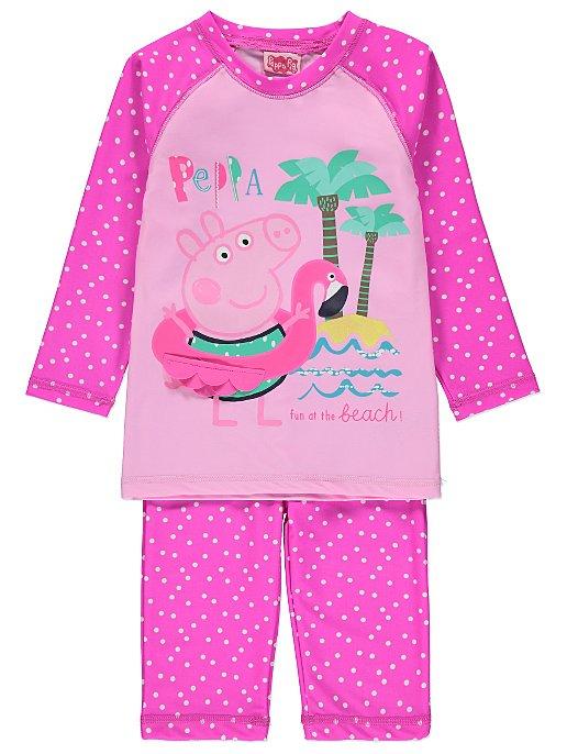 Peppa Pig Sun Protection Swimsuit Set. Reset 314322cb4