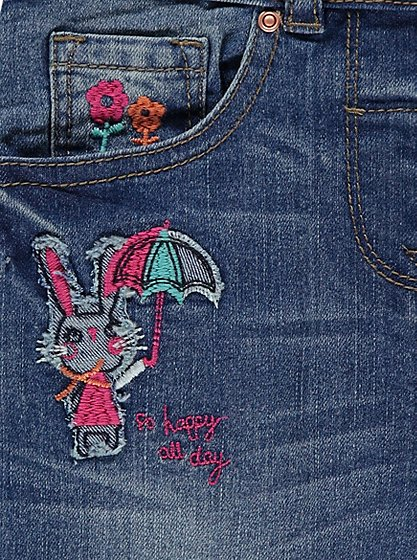 Bunny embroidered denim jeans kids george at asda