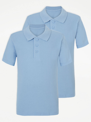 Light Blue School Polo Shirt 2 Pack