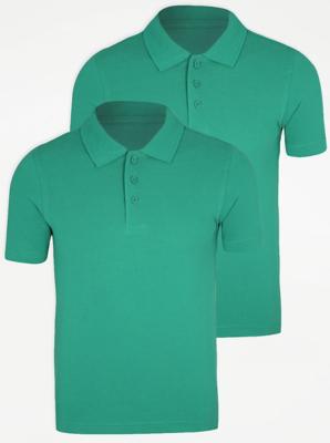 Jade Green School Polo Shirt 2 Pack