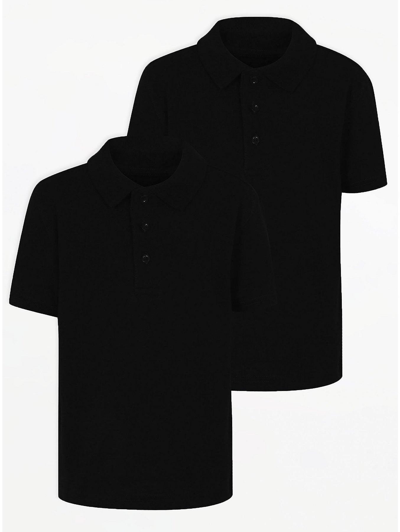 067c58b35 Boys School 2 Pack Polo Shirts – Black | School | George at ASDA