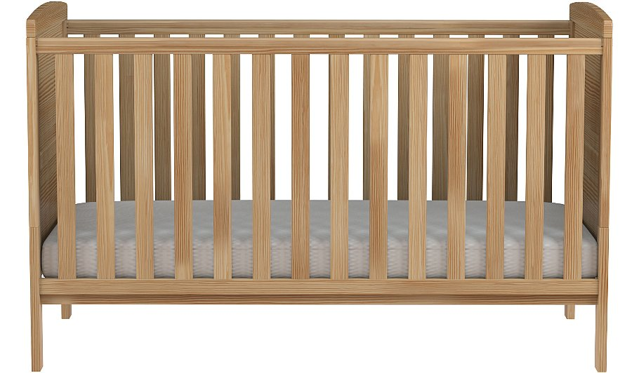 Rafferty Cot Bed And Mattress Natural