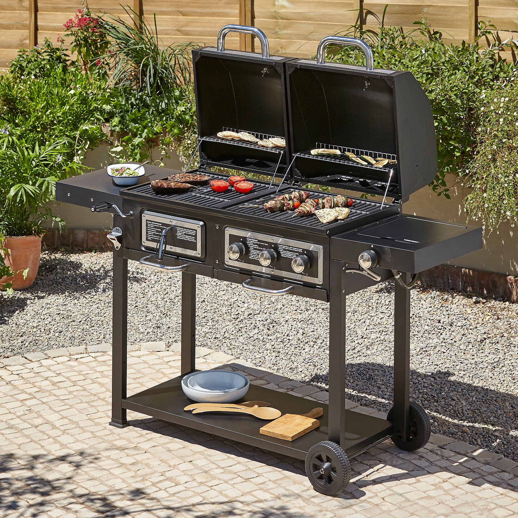 Charcoal Combination Grill Reset