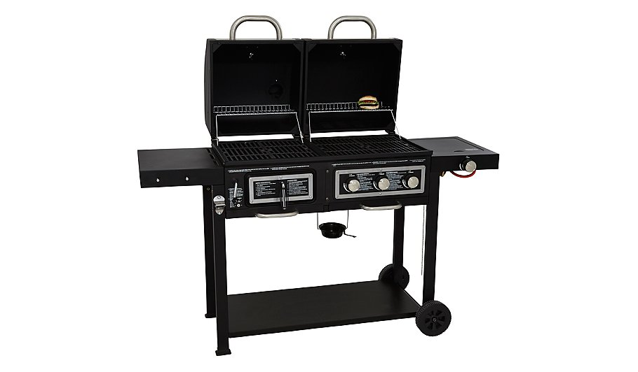 uniflame gas and charcoal combination grill home. Black Bedroom Furniture Sets. Home Design Ideas