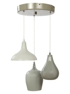 3 Light Grey Pendant Ceiling Fitting