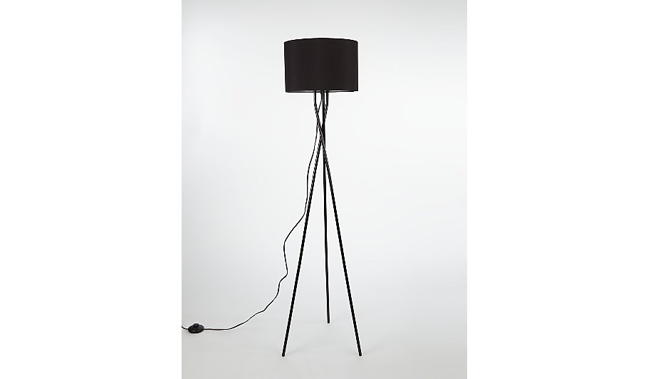 George home black low floor lamp home garden george at asda black low floor lamp mozeypictures Gallery