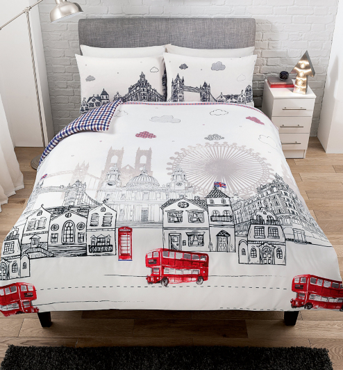 George Home Skyline Duvet Set Duvet Covers George At Asda