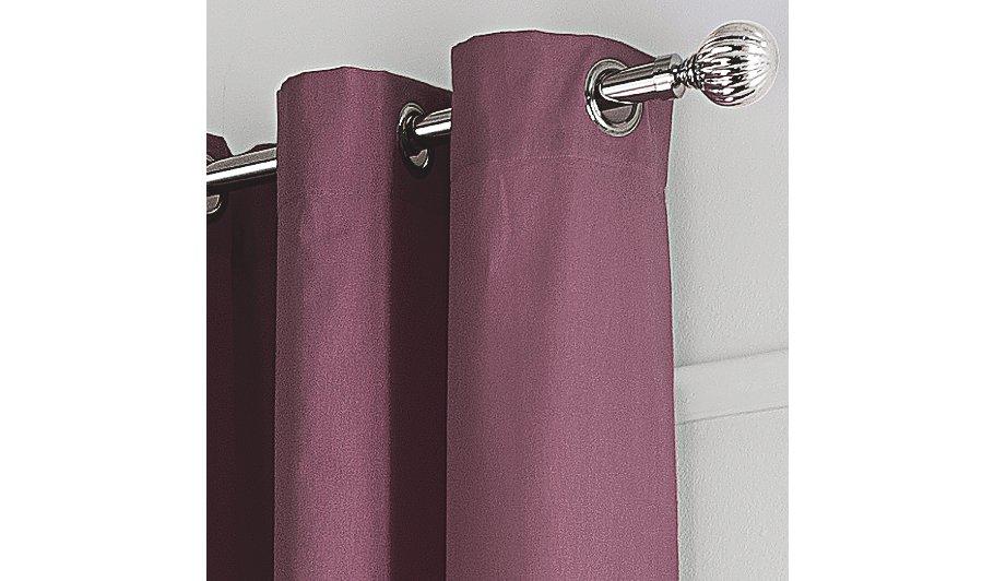 George Home Purple Plain Dye Eyelet Curtains   Home & Garden ...