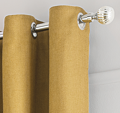 Honey Textured Weave Eyelet Curtains
