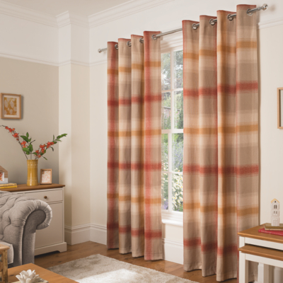 George Home Mustard Brushed Blurry Check Curtains | Home U0026 Garden | George  At ASDA