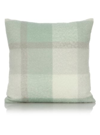 George Home Duck Egg Faux Mohair Woven Check Throw