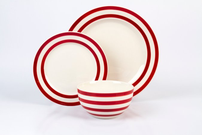 George Home Red Stripe Tableware Range