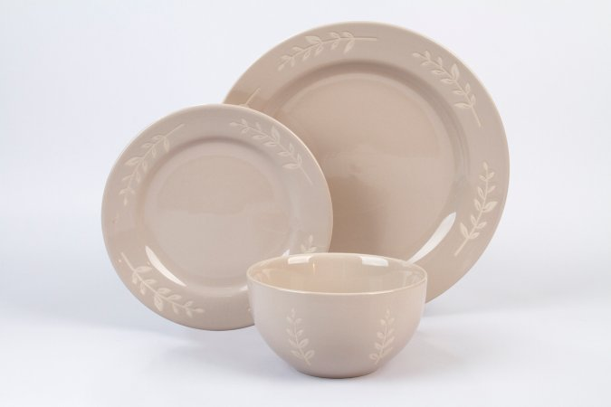 George Home Natrual Leaf Tableware Range