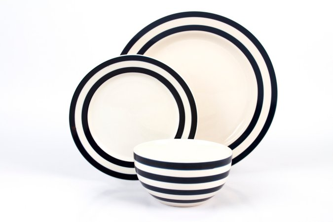George Home Blue Stripe Tableware Range