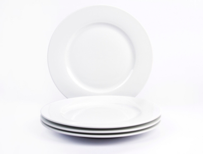 George Home White Porcelain Dinner Plates \u2013 Set of 4  sc 1 st  George - Asda & George Home White Porcelain Dinner Plates \u2013 Set of 4 | Tableware ...