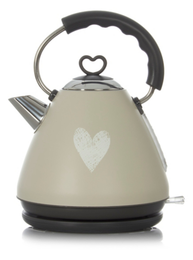 George Home 1 8l Fast Boil Pyramid Kettle Grey Home