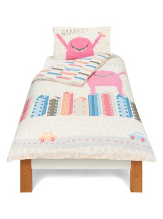 City Monster Pink Bedding Range