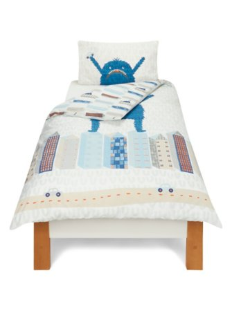 City Monster Blue Bedding Range