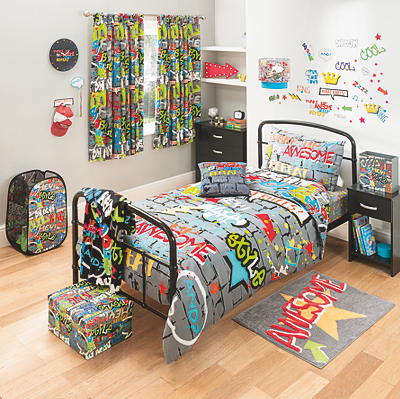 Graffiti World Bedding Range main view   Graffiti World Bedding Range  alternative view. Graffiti World Bedding Range   Bedding   George at ASDA