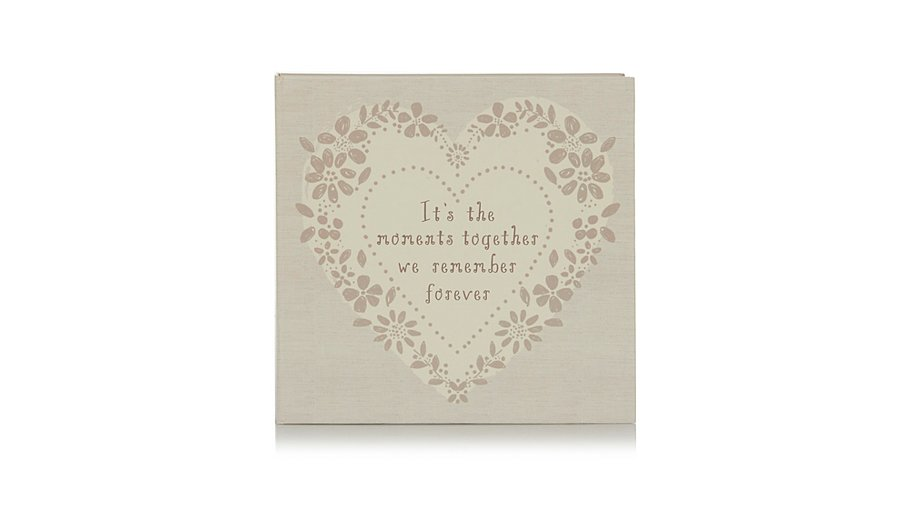 Heart Moments Together Photo Album | Home & Garden | George