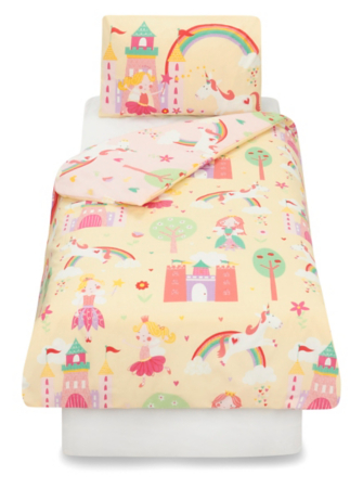 Fairy Princess Toddler Bedding Range Unicorn George At