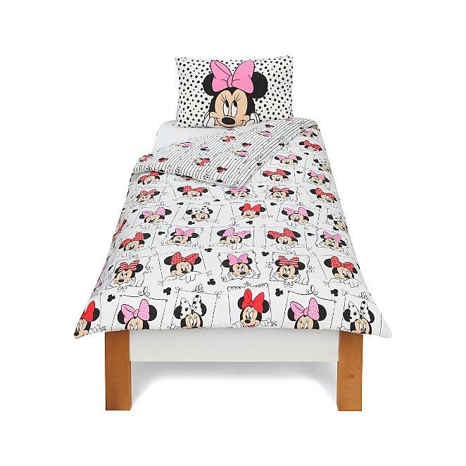 Disney Minnie Mouse Duvet Set Single Home Garden George At Asda