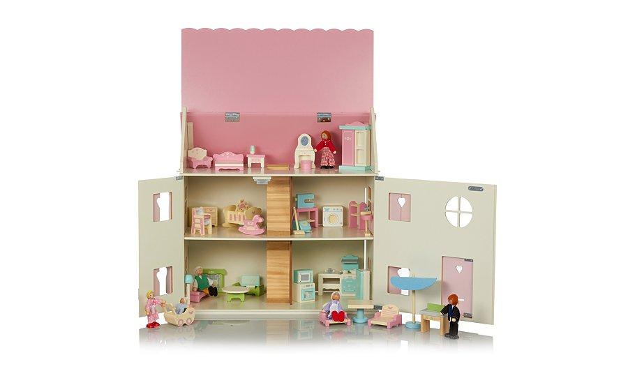george home large dolls house furniture set bundle kids. Black Bedroom Furniture Sets. Home Design Ideas