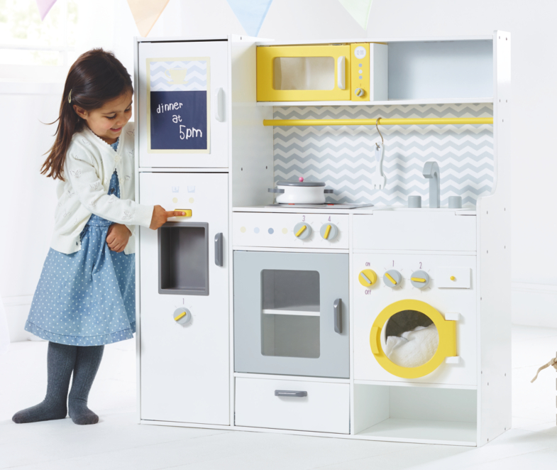 Wooden Kitchen With Laundry And Pans Toys Character George