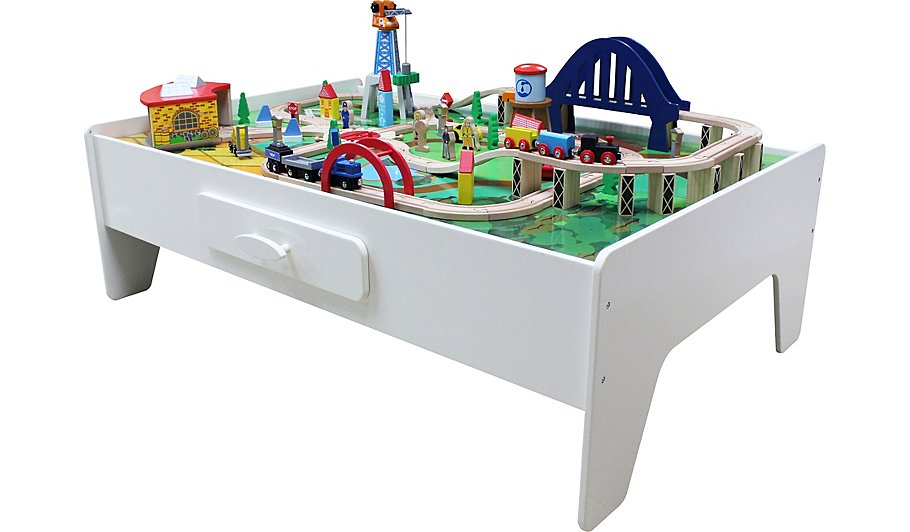 George Home Wooden Train Set And Table | Kids | George at ASDA