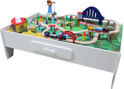 George Home Wooden Train Set And Table Kids At Asda  sc 1 th 172 & Wooden Train Table Set Asda - Table Design Ideas